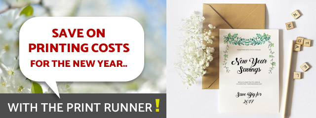 Save on printing costs for the New Year with The Print Runner