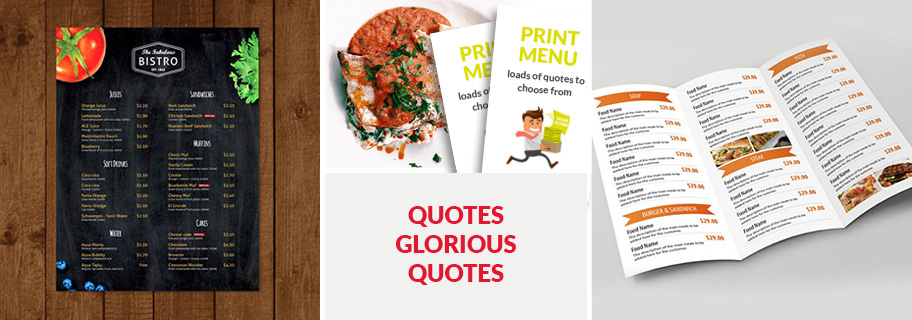 Quirky Restaurant Menu Ideas