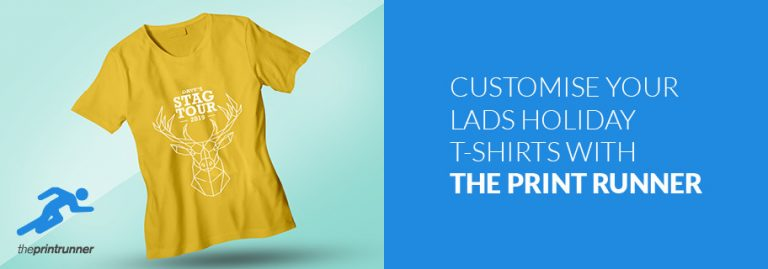 Customise your lads holiday t-shirts with The Print Runner