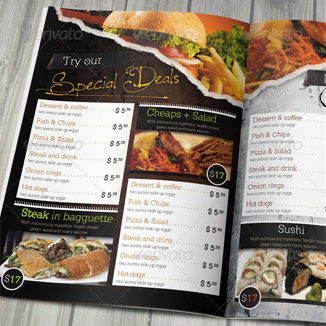 best prices for 8 page A4 Folded Menu