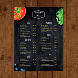 best prices for A4 Double Sided Menu