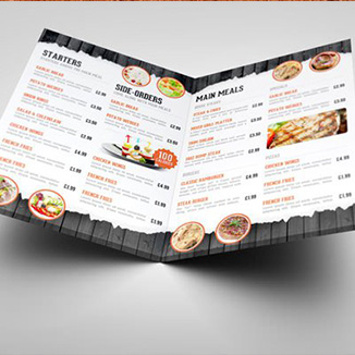 best prices for 4 page A4 Folded Menu