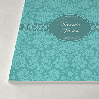 best prices for A5 4 page Silk Invitation