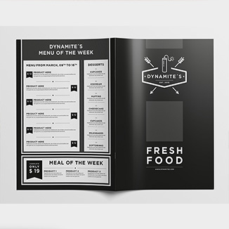 best prices for 4 page A5 Folded Menu