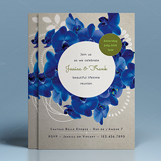 best prices for A5 Two Sided Silk Invites