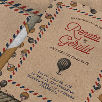 best prices for A5 4 page Textured Invitation
