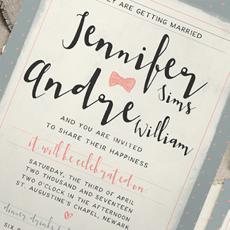 best prices for A6 Two Sided Textured Invites