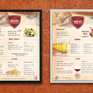 best prices for A3 Double Sided Menu