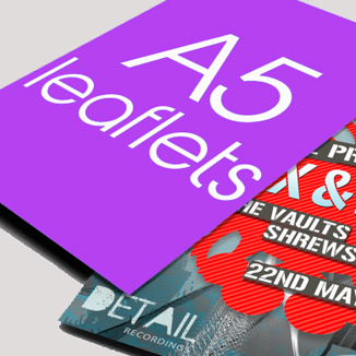 best prices for Double Sided A5 Leaflet - Matt Laminated